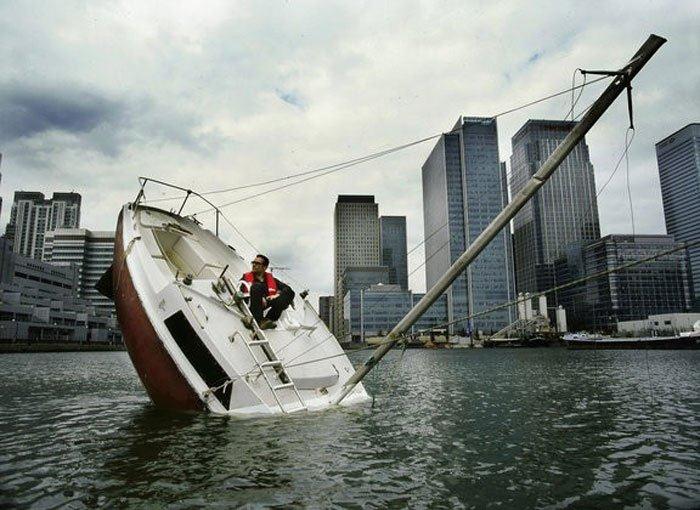 Sinking Sailboat