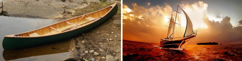 Canoe vs. Sailboat